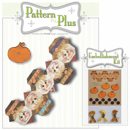 Button Scarecrow Pattern Pak Plus
