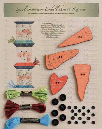 Spool Snowmen Embellishment Kit