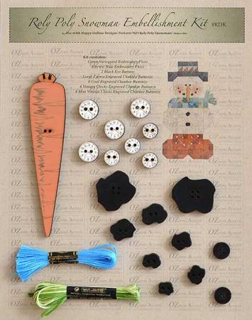 Roly Poly Snowman Embellishment Kit