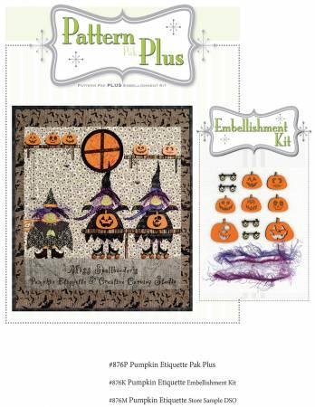 Pumpkin Etiquette Pattern Pak Plus By Happy Hollow Designs
