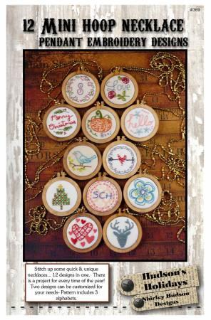 12 Mini Hoop Necklace Pendant Embroidery Designs