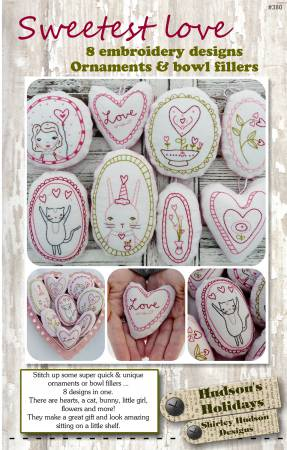 Sweetest Love 8 Embroidery Designs Ornaments/Bowl Fillers