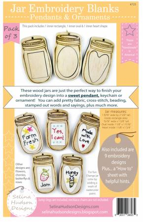 Embroidery Canning Jar Pendants and Ornaments