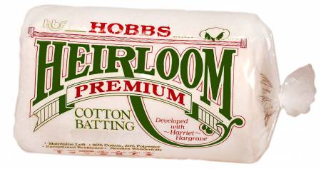 Batting Heirloom Premium Cotton Blend 72in x 90in