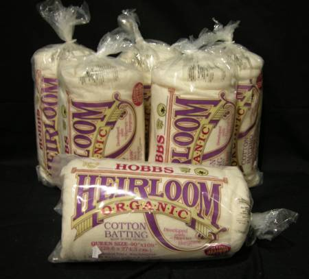 Batting Heirloom Natural Unbleached Cotton with Scrim 90in x 108in