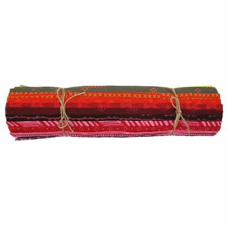 1/2 yd cuts, Bali Batiks Flame, 25pcs/bundle