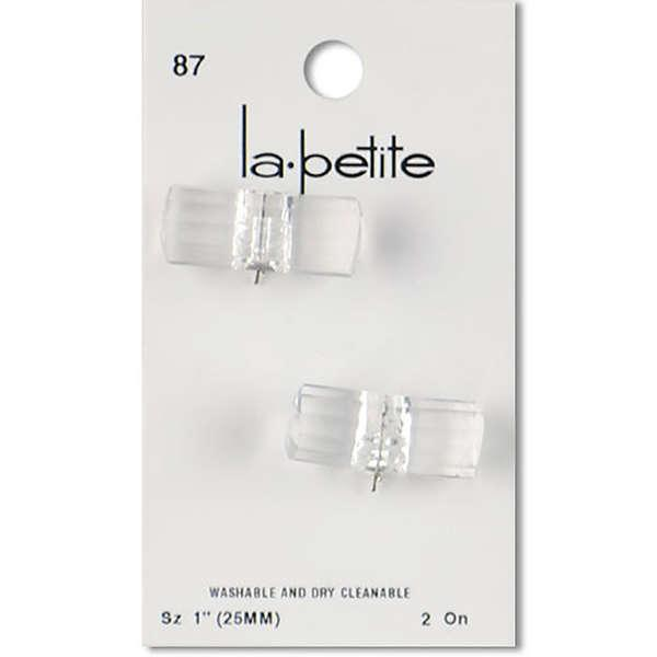 Toggle LaPetite Button Crystal 1in 2ct