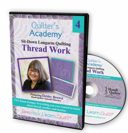 Quilters Academy DVD Featuring Debby Brown 4 Thread Work