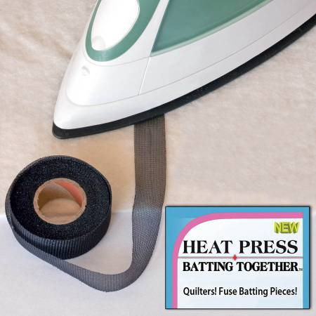 Heat Press Batting Together - 3/4 x 10 YDS - Black