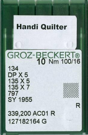 Handi Quilter Machine Needles Size 16 10ct