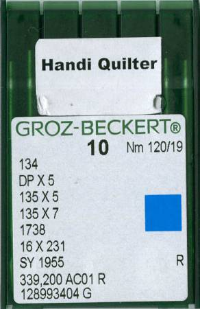 Handi Quilter Machine Needles Size 19 10ct