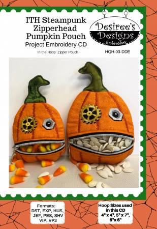 ITH Steampunk Zipperhead Pumpkin Pouch