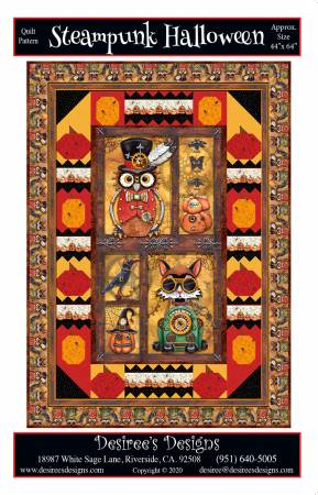 Steampunk Halloween Quilt Pattern