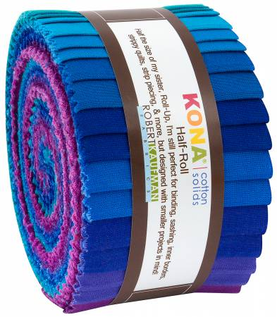 Kona Solids Peacock 2 1/2 strips, 24pcs