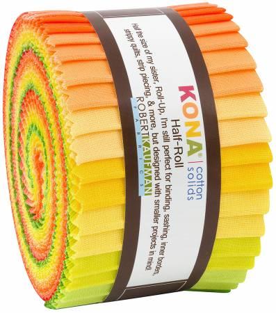 2-1/2in Strips Kona Cotton Citrus Fruit Palette, 24pcs/bundle