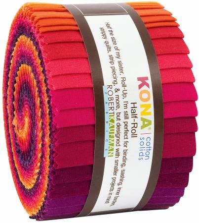 2-1/2in Strips Kona Cotton Birds of Paradise Palette, 24pcs/bundle
