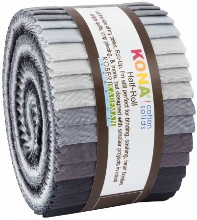 2-1/2in Strips Kona Cotton Stormy Skies Palette, 24pcs/bundle