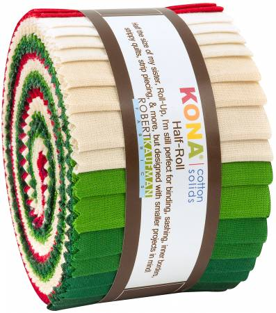 Kona Cotton Christmas Holiday Palette, 24pcs 2-1/2 strips