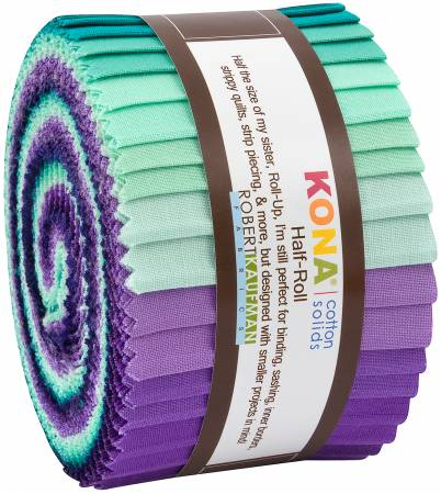 2-1/2in Strips Kona Cotton Aurora Palette, 24pcs/bundle