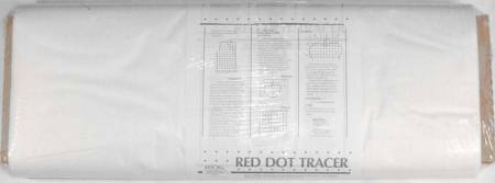 Red Dot Tracer Tracing Material 46in x 30yds White