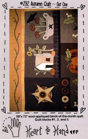 Autumn Quilt Block of the Month Blocks 1,2,3