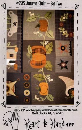 Autumn Quilt Block of the Month Blocks 4,5,6
