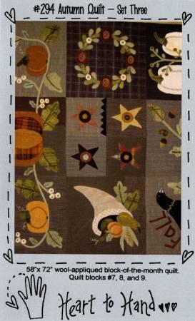 Autumn Quilt Block of the Month Blocks 7,8,9,