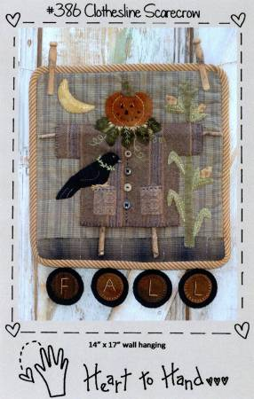 PT W Heart to Hand Clothesline Scarecrow