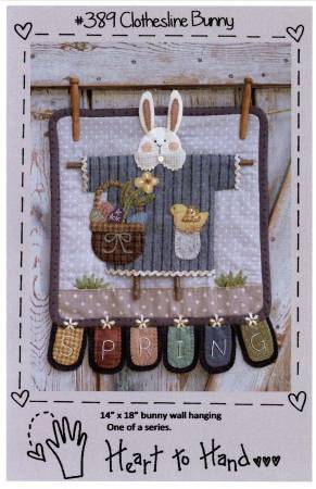 PT W Heart to Hand Clothesline Bunny