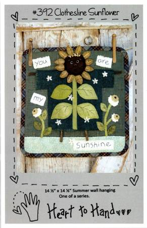 PT W Heart to Hand Clothesline Sunflower