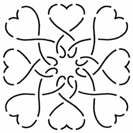 6 Quilt Stencil Sweet Hearts HW110