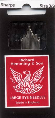 Richard Hemming Sharps Needle Assorted Sizes 3/9 20ct