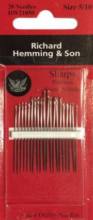 Richard Hemming Sharps Needles Assorted Sizes 5/10 20ct