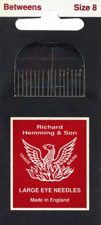 Richard Hemming Between / Quilting Needles Size 8 20ct