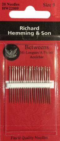 Richard Hemming Between / Quilting Needles Size 9 20ct