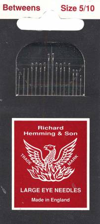 Richard Hemming Between / Quilting Needles Size 5/10 20ct