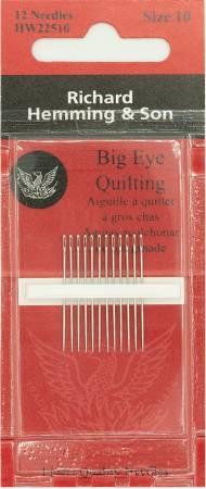Richard Hemming Between / Quilting Big Eye Needle Size 10 18ct