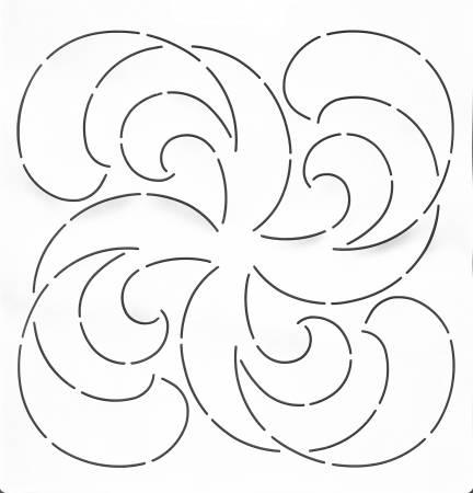 Quilt Stencil Wondrous Waves
