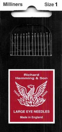 Richard Hemming Milliners / Straw Needles Size 1 12ct