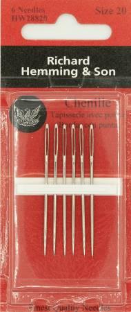 Richard Hemming Chenille Needle Size 20 6ct
