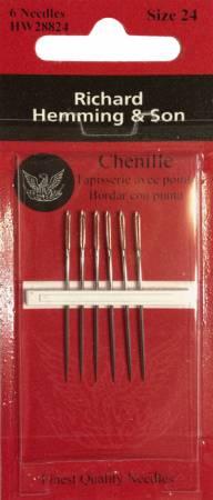 Richard Hemming Chenille Needle Size 24 6ct