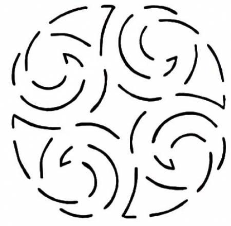 Quilt Stencil North Sea 4