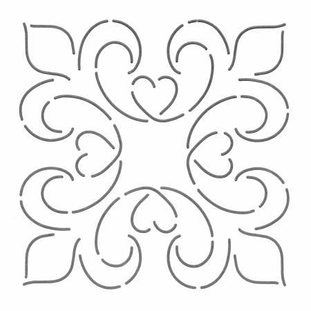 Quilt Stencil Elegance Block 6in