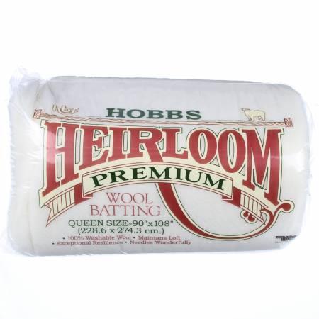 HWL90 Batting Heirloom 100% Wool 90in x 108in