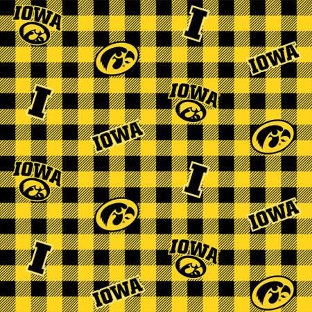 NCAA Iowa Check Flannel