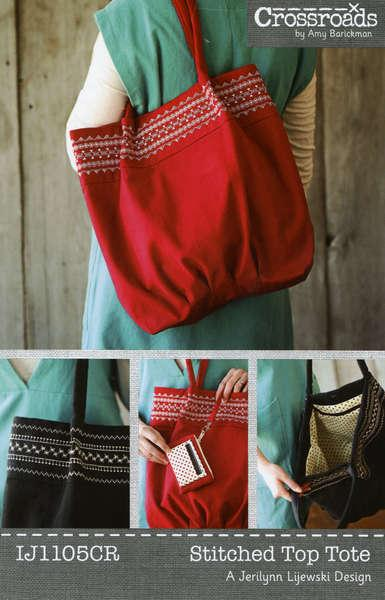 Stitched Top Tote - IJ1105CR