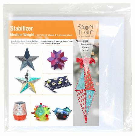 Fabriflair Medium Weight Stabilizer - 10in Square Pre-cut Pack