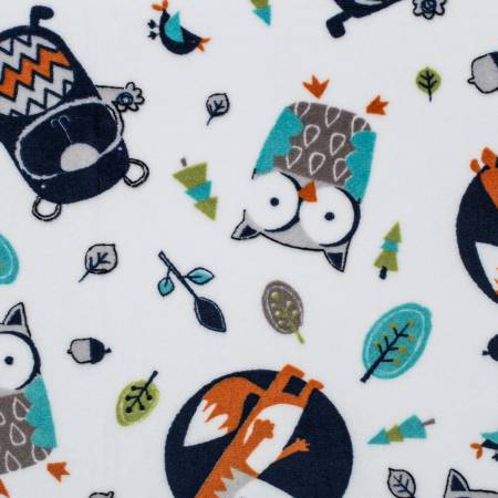 Navy Into the Woods Cuddle Print