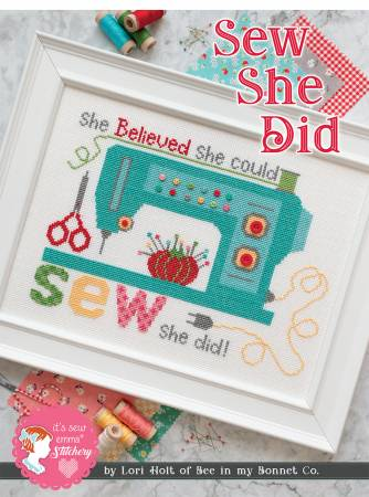 Sew She Did Cross Stitch Pattern+