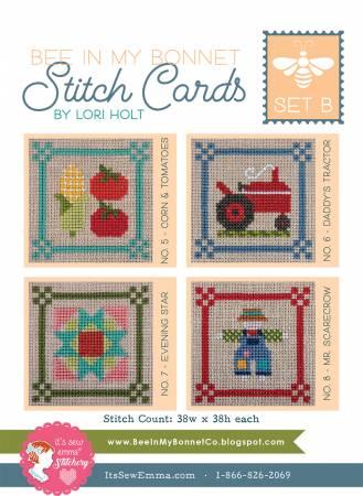 PT CS Bee In My Bonnet Stitch Cards Set B